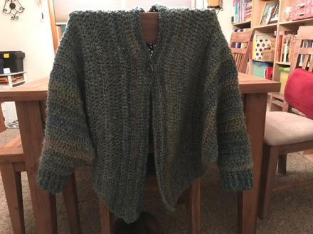 Cuffed Shawl Complete Crocheting The Year Away